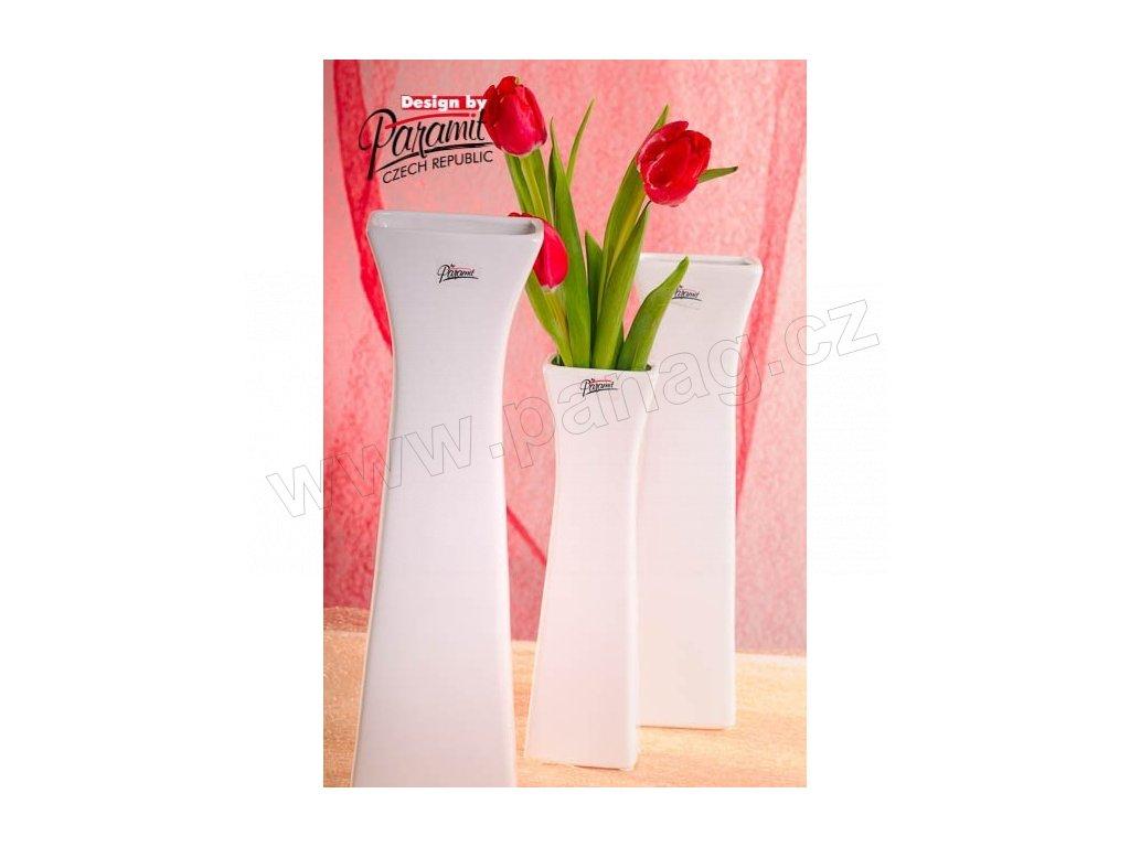 Cedreta váza bílá 35 cm  - Paramit - 11062-35
