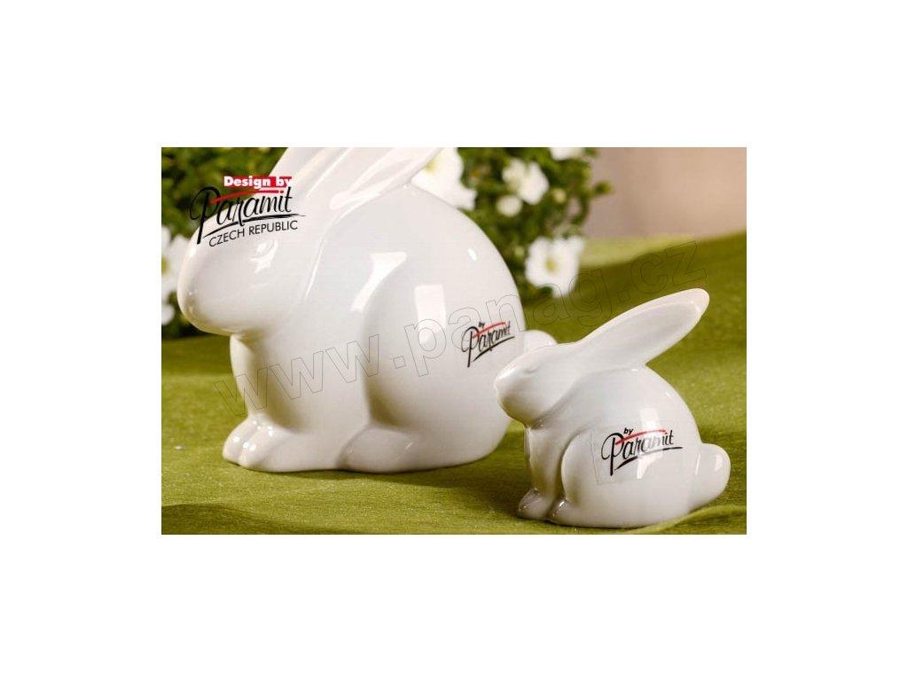 Zajíc Bobek bílý 6 cm  - Paramit - 11056-6
