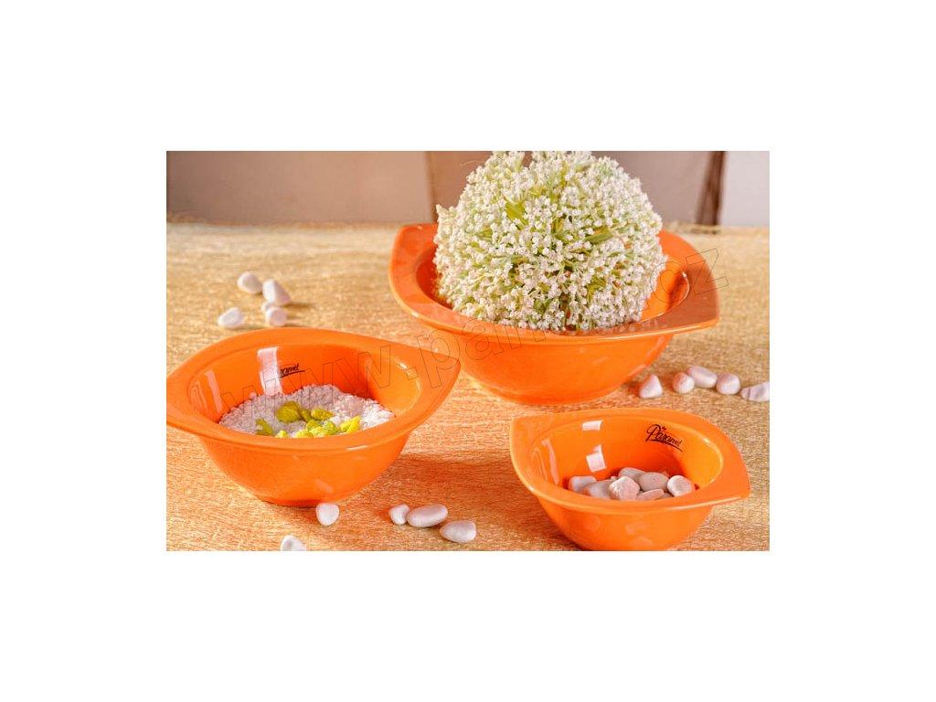 Cog aranžovací miska plytká oranžová 13 cm