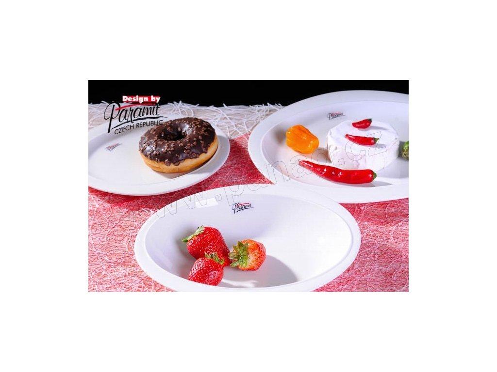 Ovalek dezertní talíř bílý 19 cm  - Paramit - 6301-19W