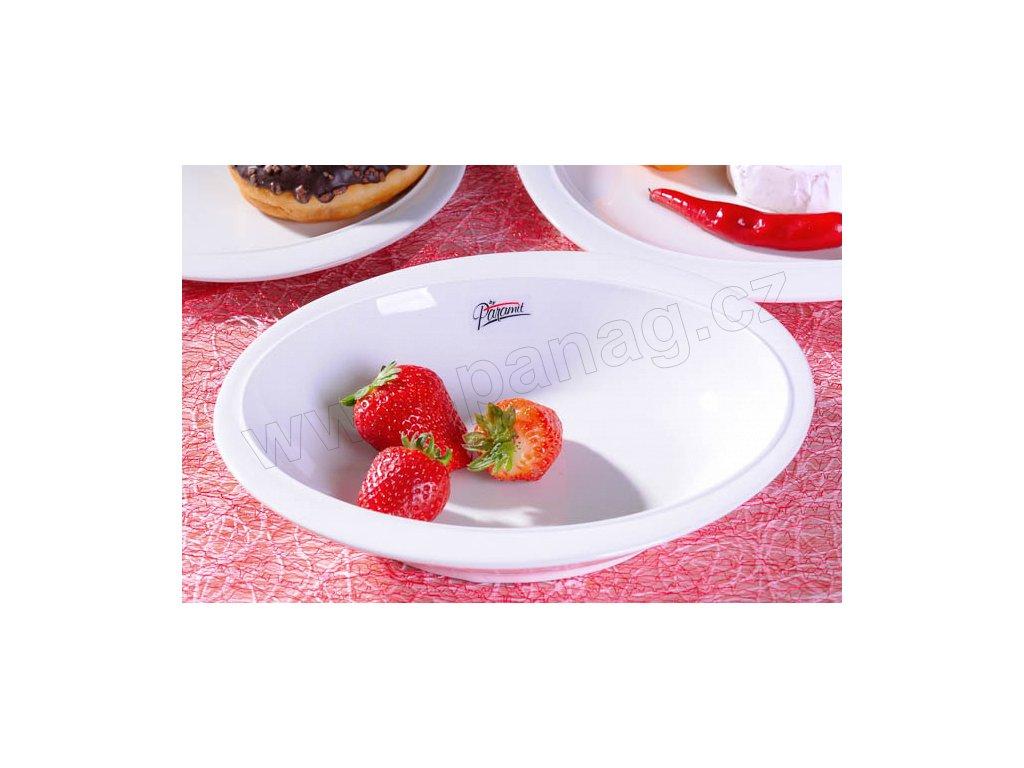 6302 23W Ovalek polévkový talíř bílý 23 cm