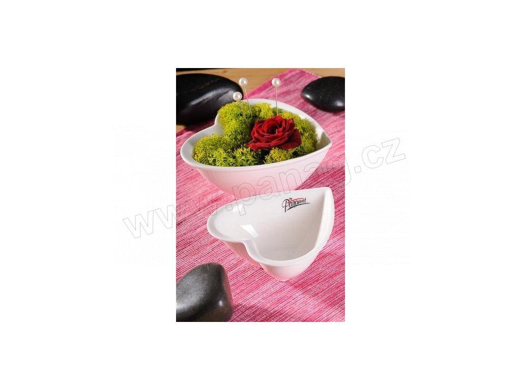Srdíčko miska bílá 10 cm  - Paramit - 75-10W