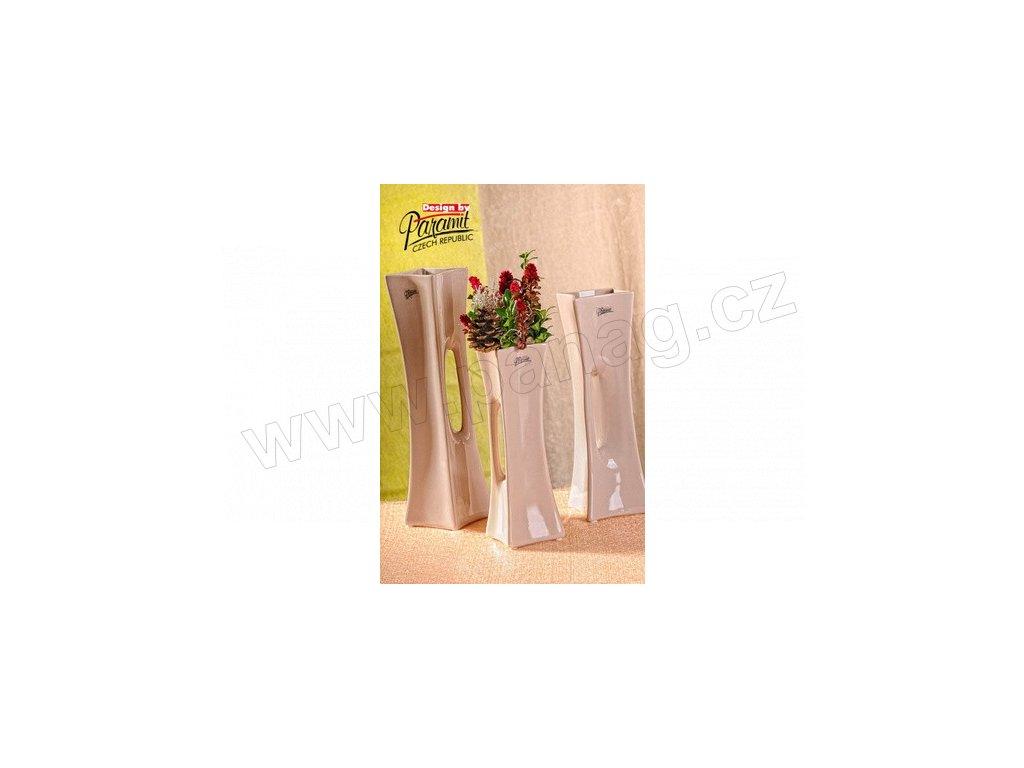 X-Vase váza béžová 25 cm  - Paramit - 58-25C