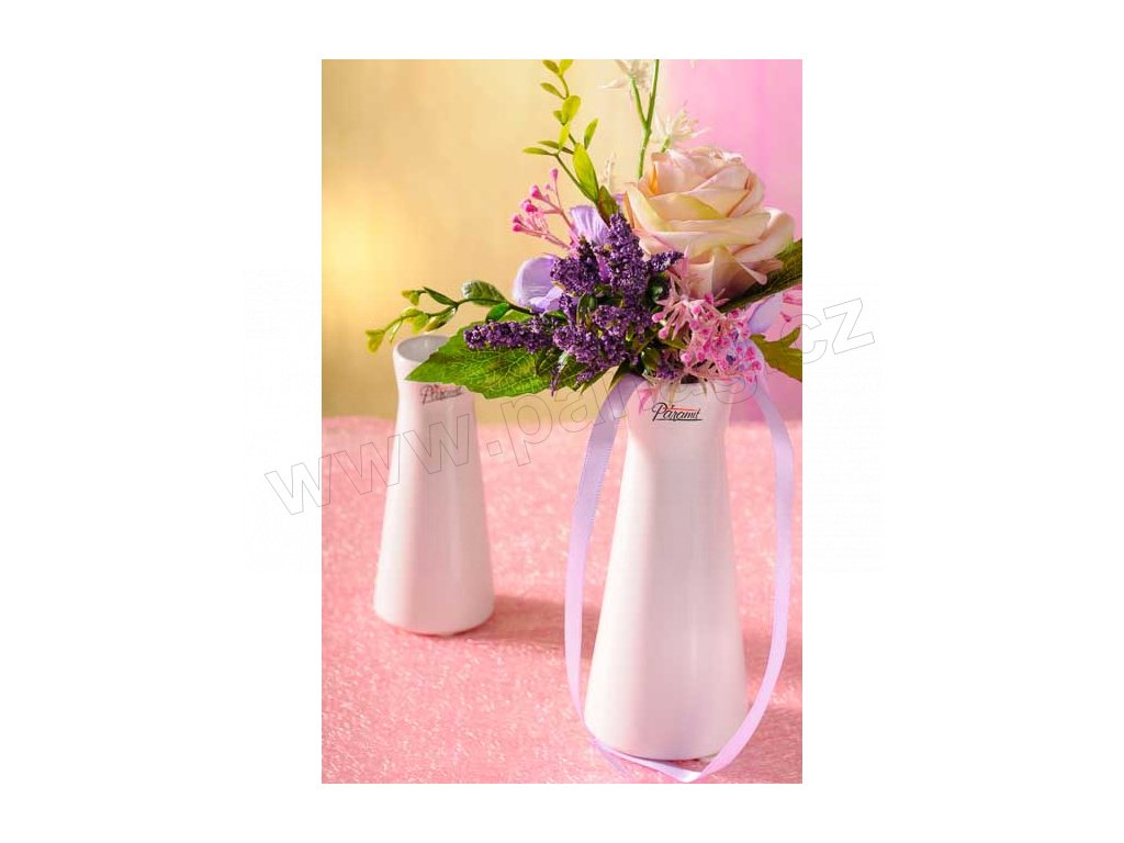 520 16W Kapucín váza bílá 16 cm