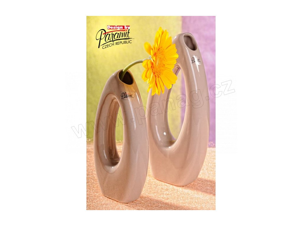 Váza béžová 23 cm Pip  - Paramit - 5506-23C