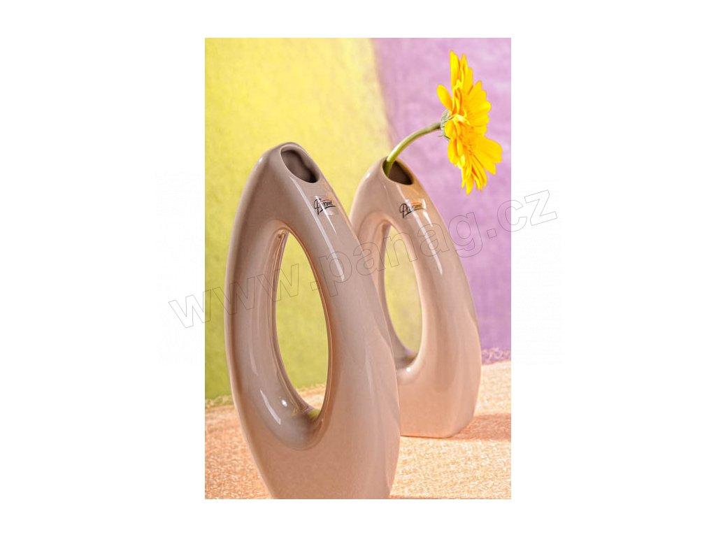 5506 28C Váza béžová 28 cm Pip