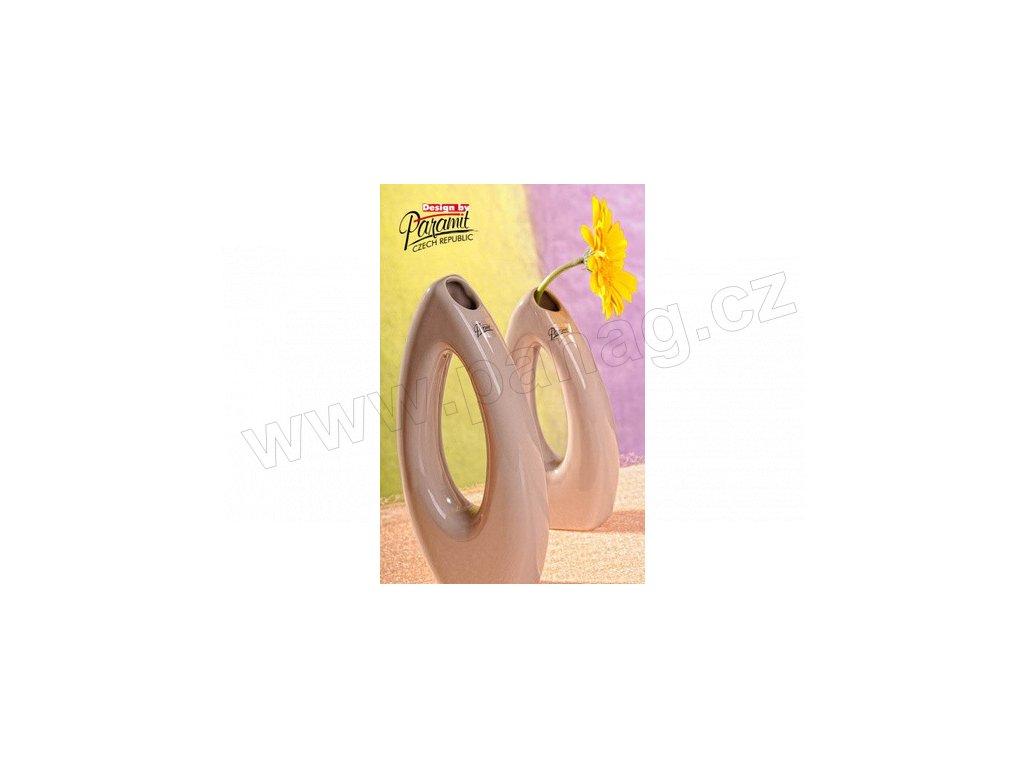 Váza béžová 28 cm Pip  - Paramit - 5506-28C