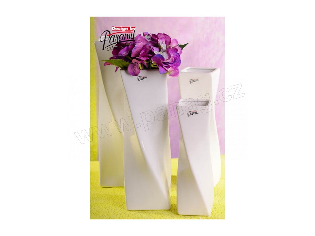 Váza bílá 24 cm Xenie  - Paramit - 11031-24W