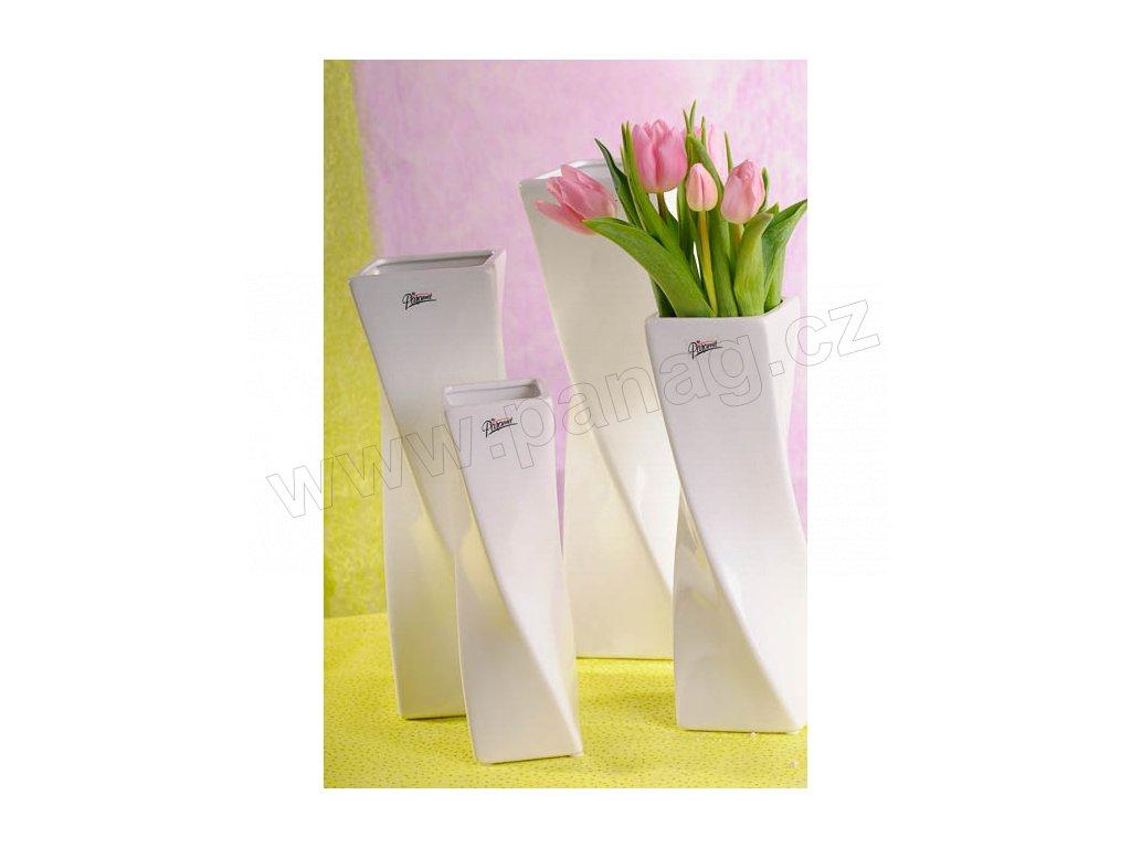 11031 32W Xenie váza bílá 32 cm