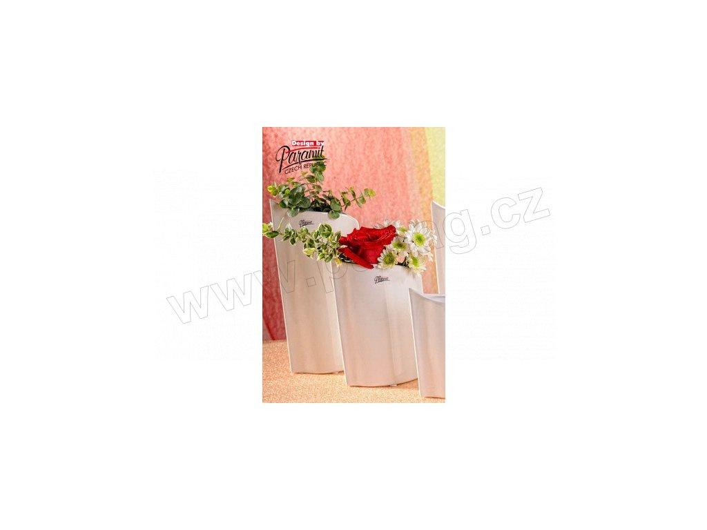 Váza bílá 28 cm Leila  - Paramit - 11078-28W
