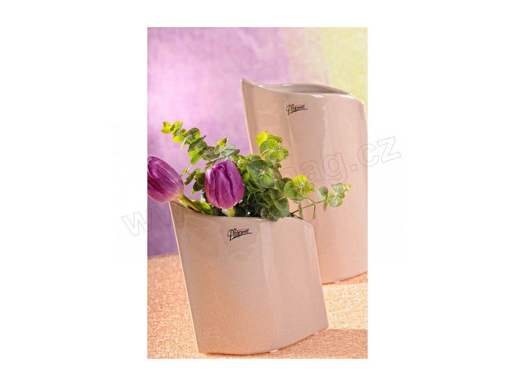 11078 16C Váza béžová 16 cm Leila