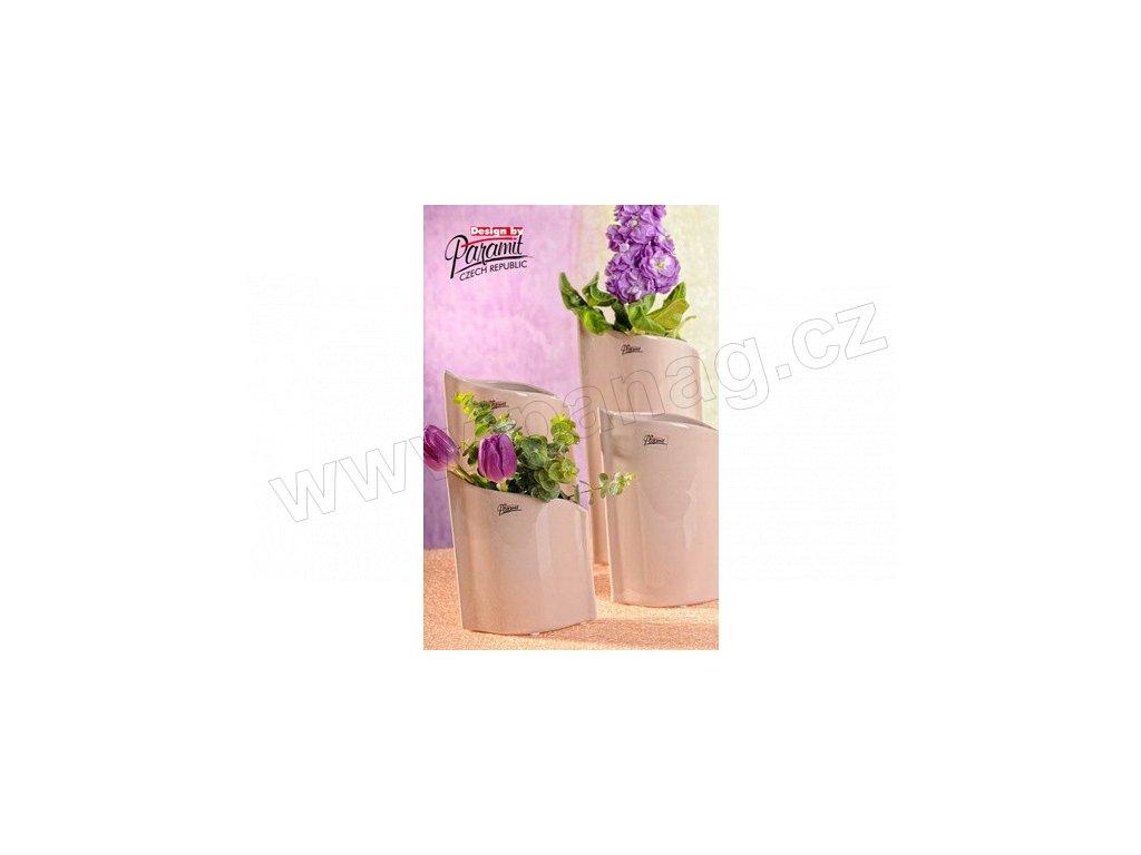 Váza béžová 28 cm Leila  - Paramit - 11078-28C