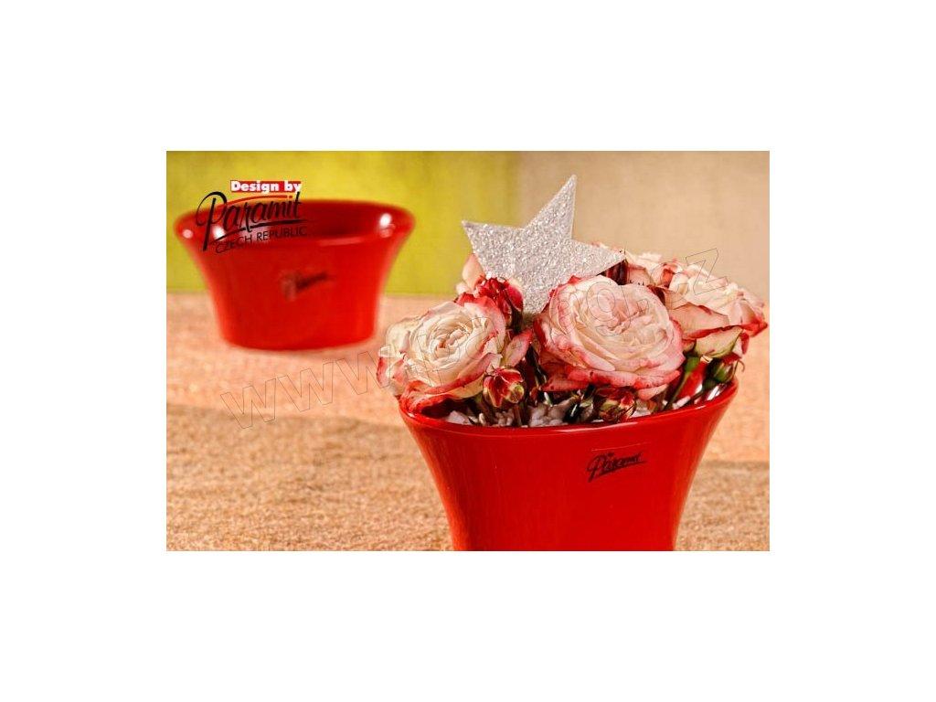 Linda miska červená 13 cm  - Paramit - 11090-13R