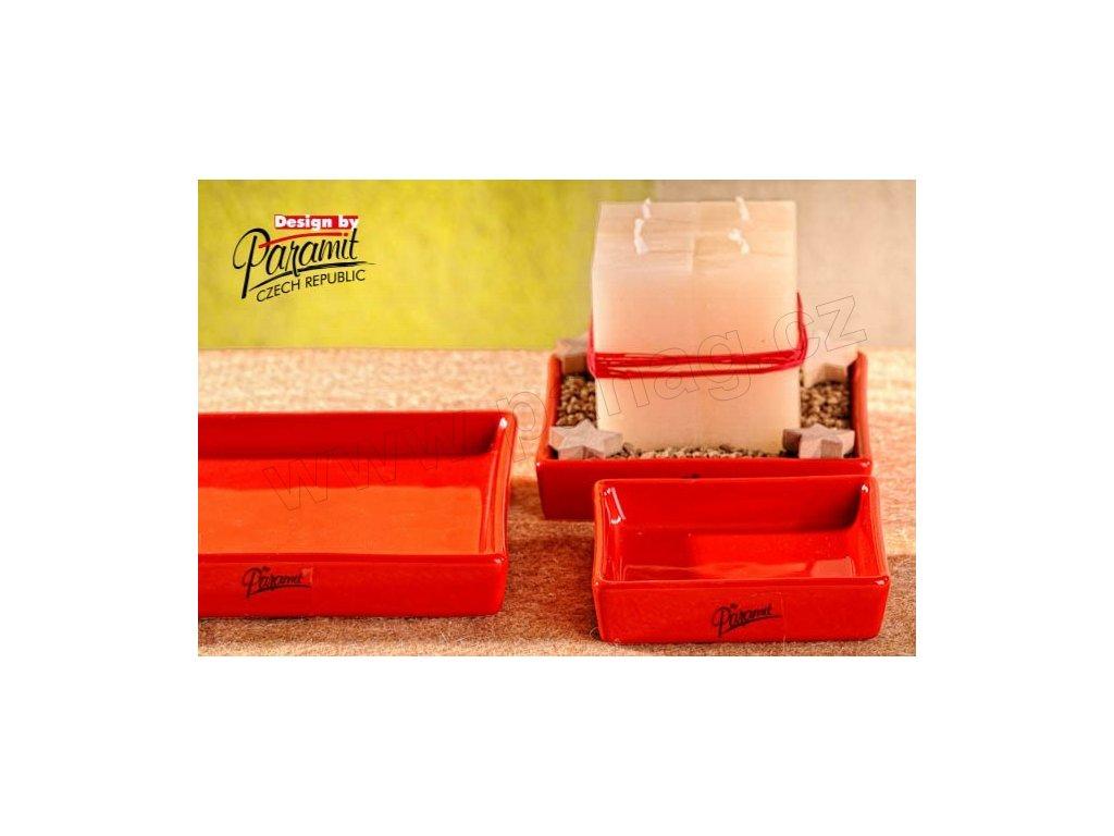 Salma tácek čtverec červený 10 x 10 cm  - Paramit - 11087-10R