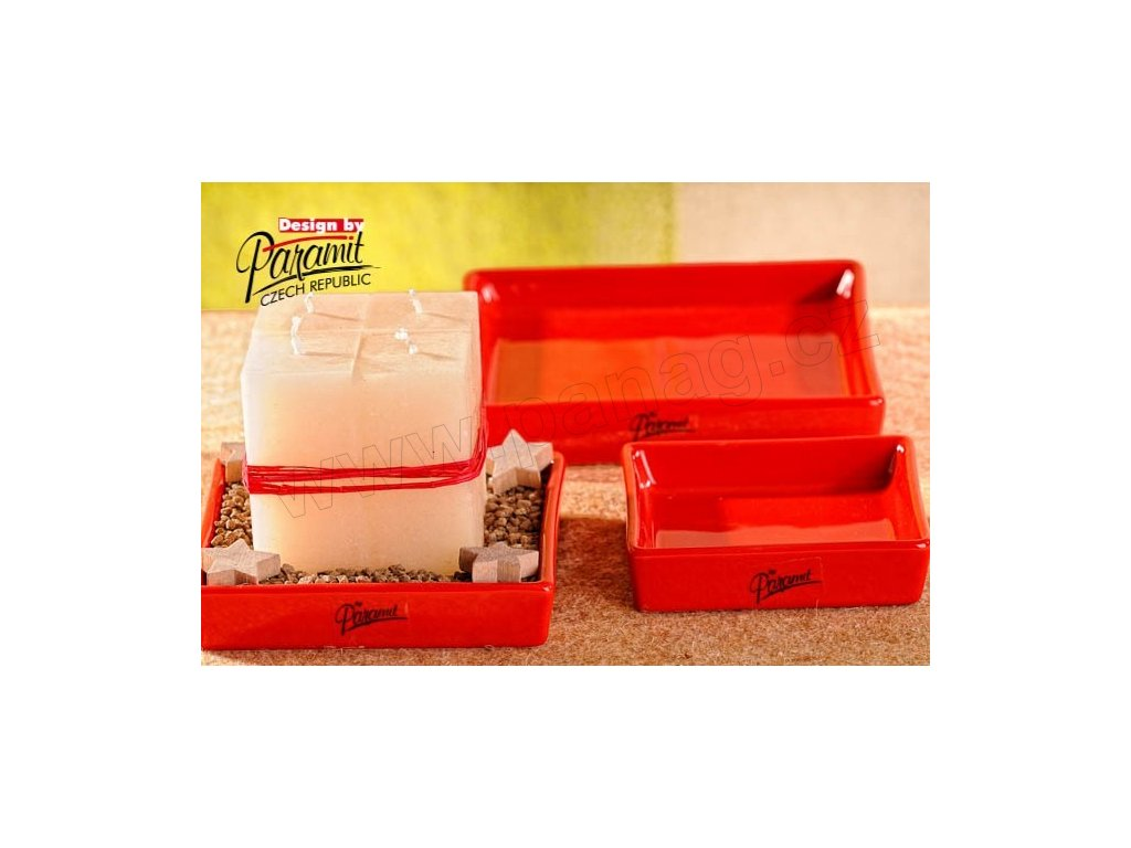 Salma tácek čtverec červený 15 x 15 cm  - Paramit - 11087-15R