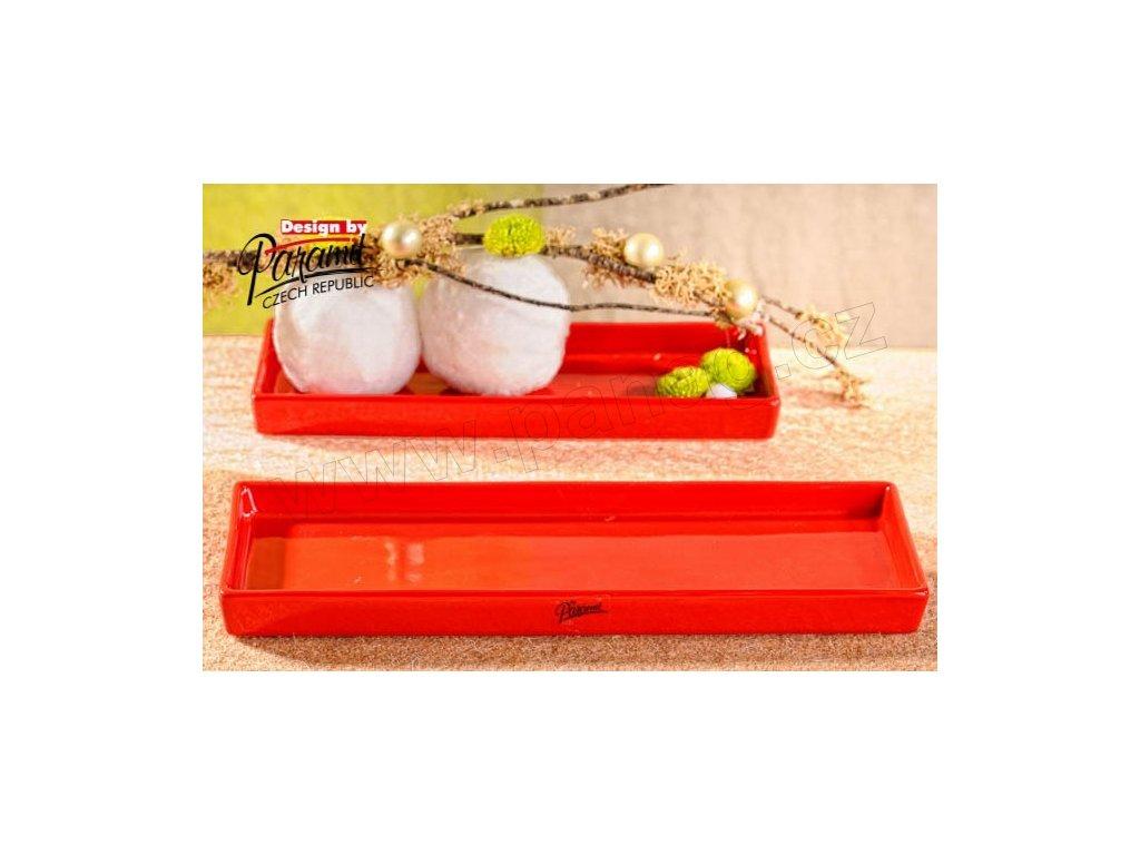 Salma tácek obdélník červený 31 x 10 cm  - Paramit - 11086-31R