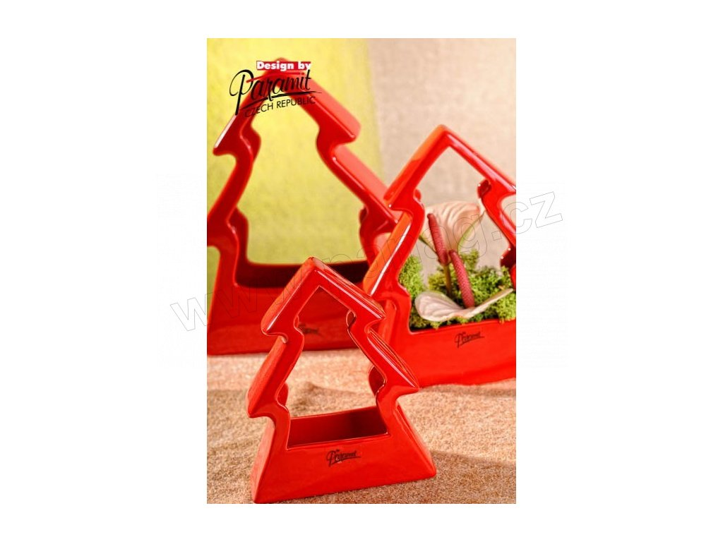 Stromeček červený 16 cm  - Paramit - 11091-16R