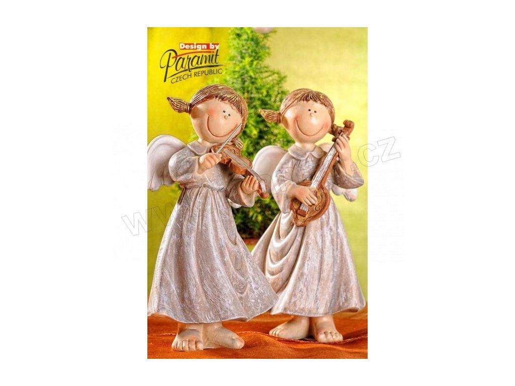 Anděl muzikant s hosličkami 22 cm  - Paramit - 33010-22