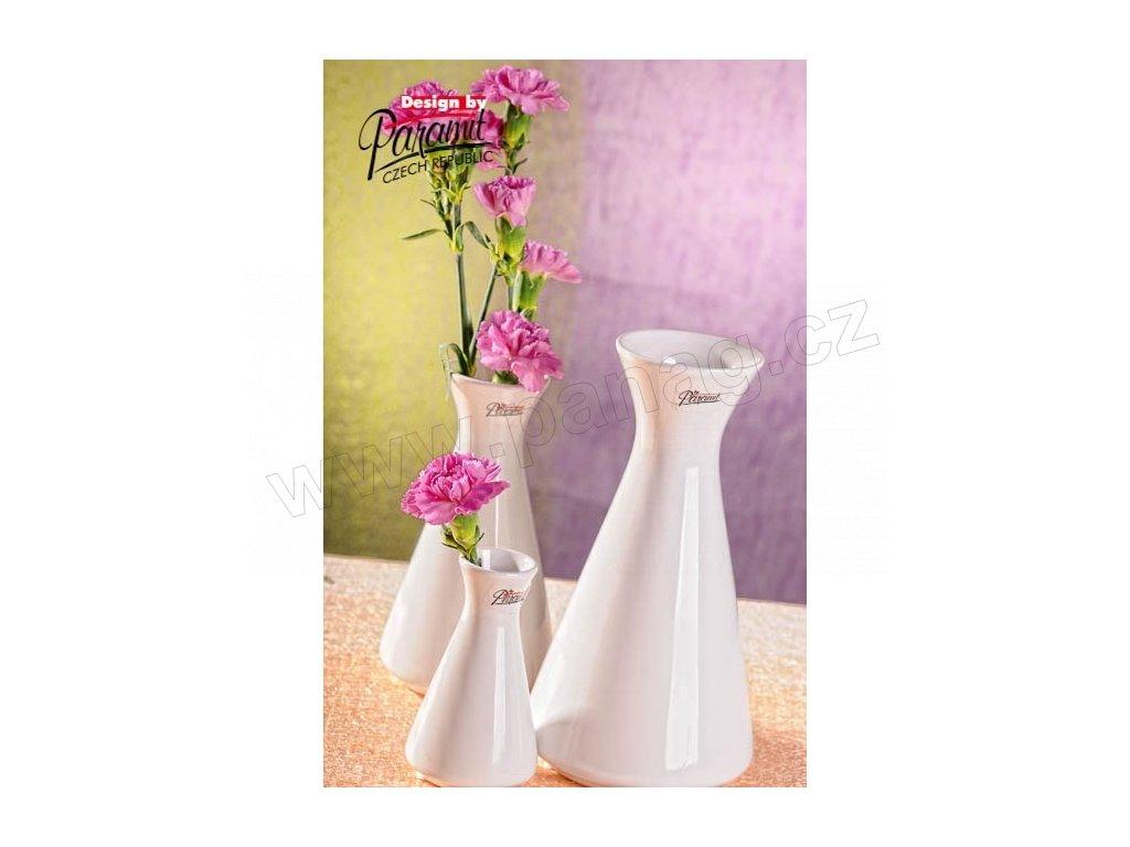 Mia váza bílá 20 cm  - Paramit - 11099-20W