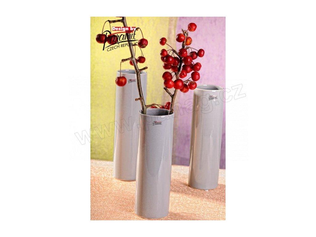 Polly váza šedá 25 cm  - Paramit - 12011-25GY