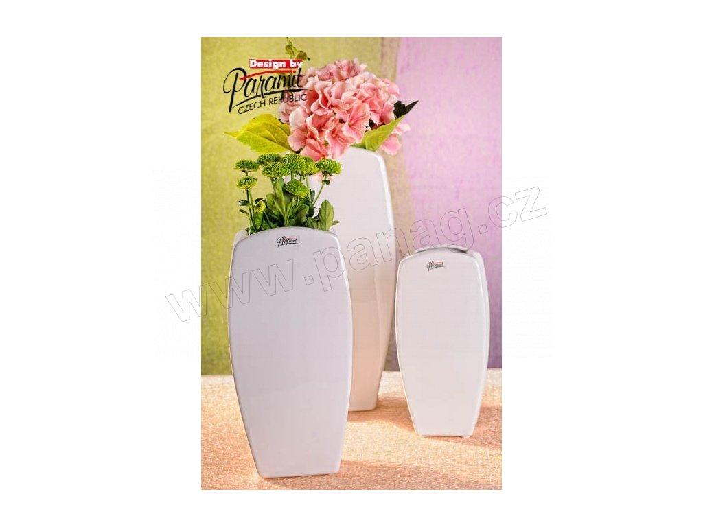 Vanda váza bílá 28 cm  - Paramit - 12015-28W