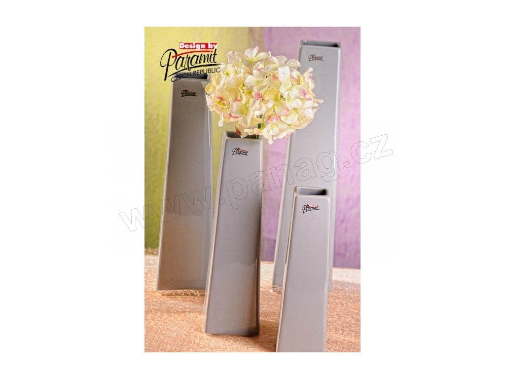Wendy váza šedá 25 cm  - Paramit - 11097-25GY
