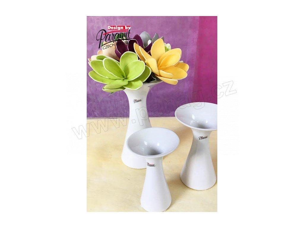 Agáta vázabílá 23 cm  - Paramit - 12019-23W