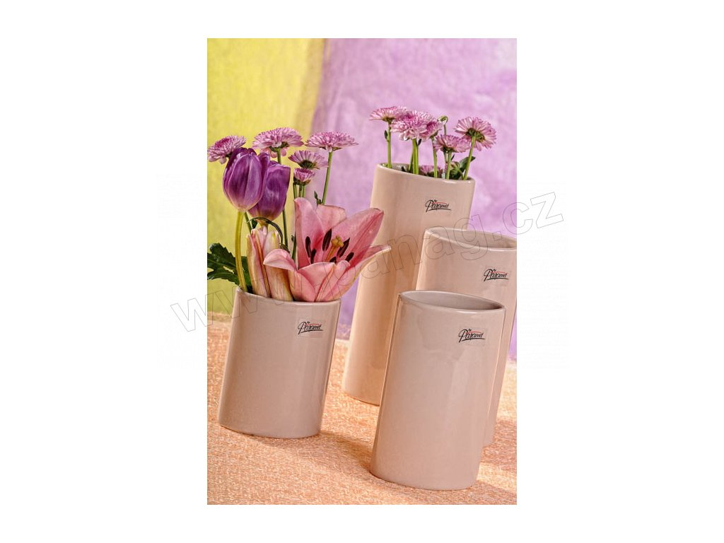 11083 12C Dita váza béžová 12 cm