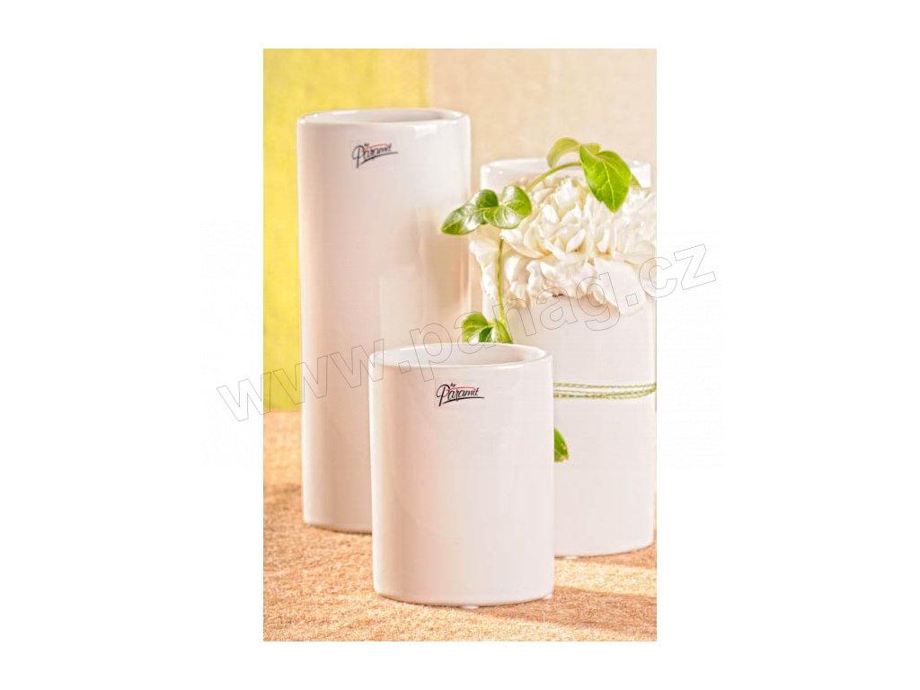 11083 12W Dita váza bílá 12 cm