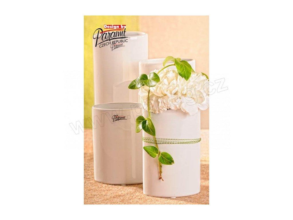 Dita váza bílá 15 cm  - Paramit - 11083-15W