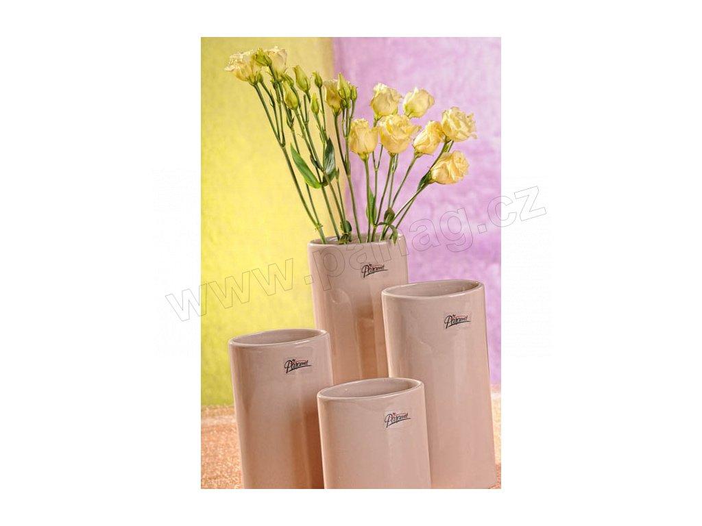 11083 21C Dita váza béžová 21 cm