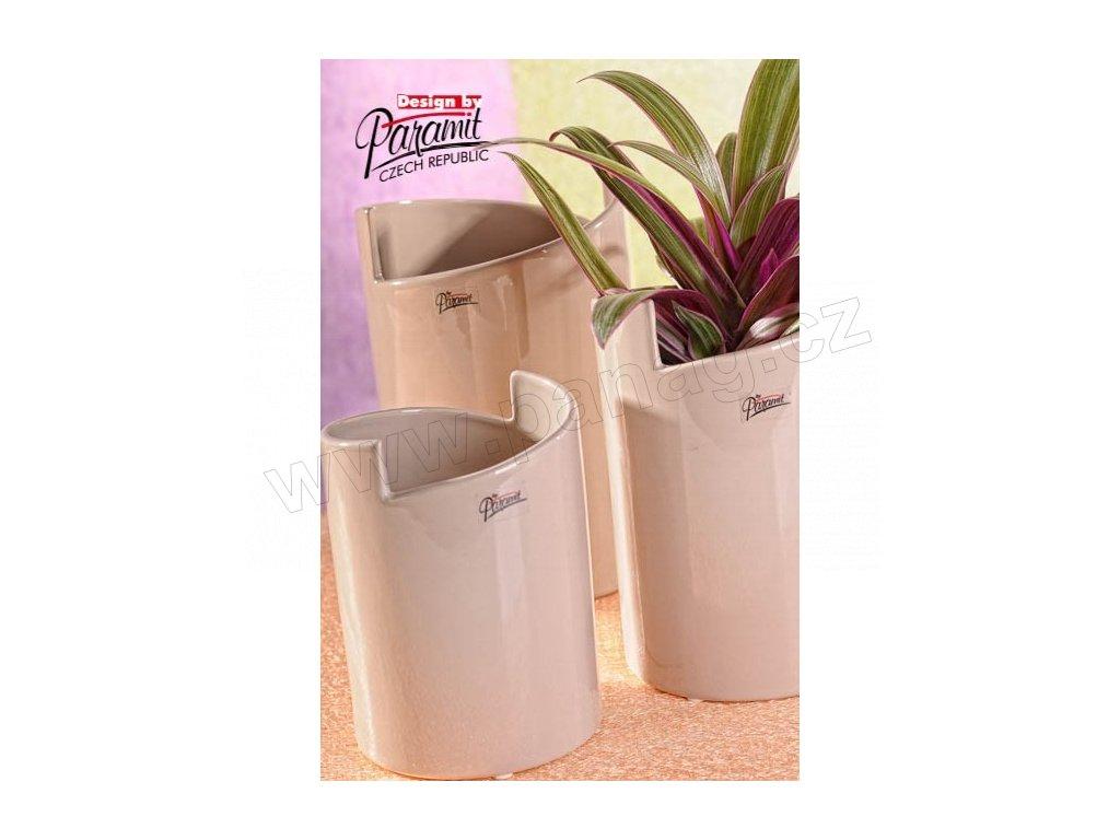 Gudrun váza béžová 20 cm  - Paramit - 11077-20C