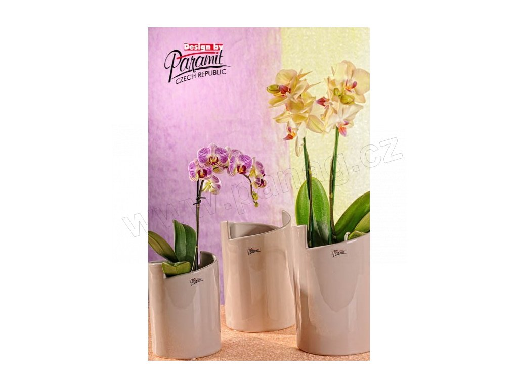 Gudrun váza béžová 22 cm  - Paramit - 11077-22C