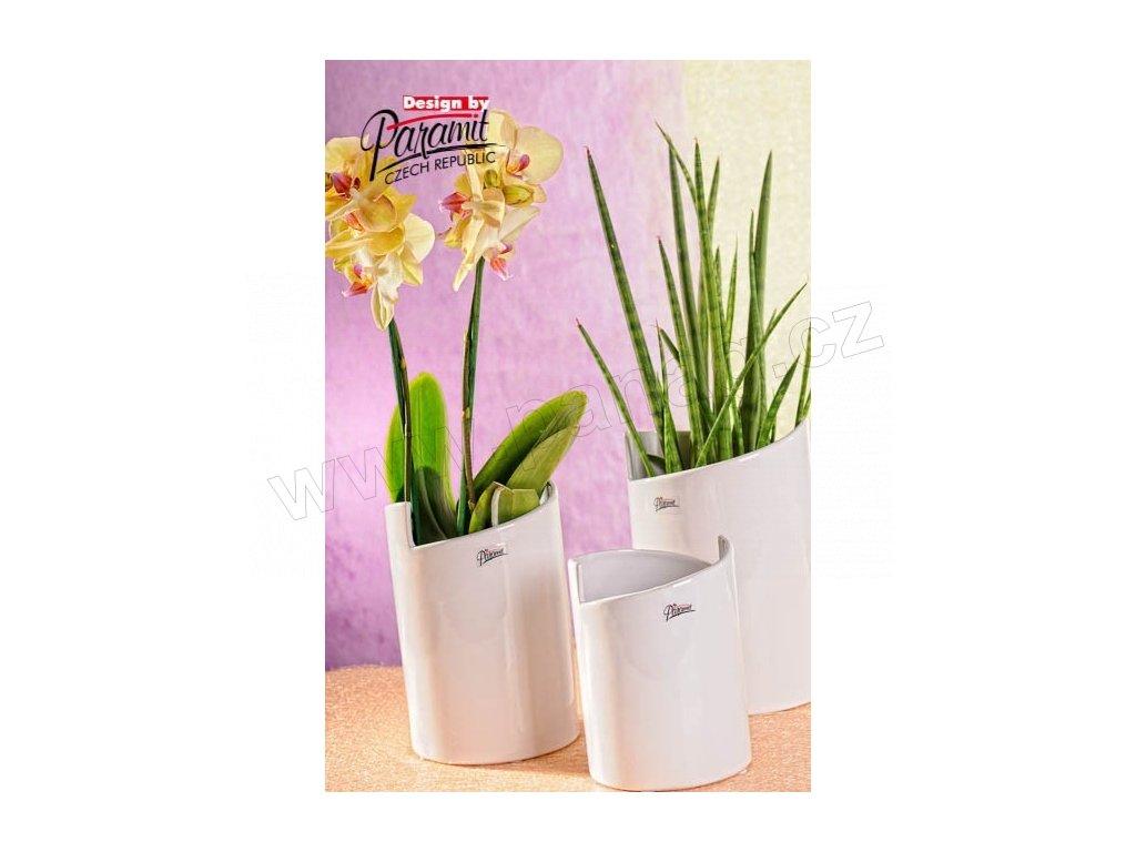 Gudrun váza bílá 22 cm  - Paramit - 11077-22W