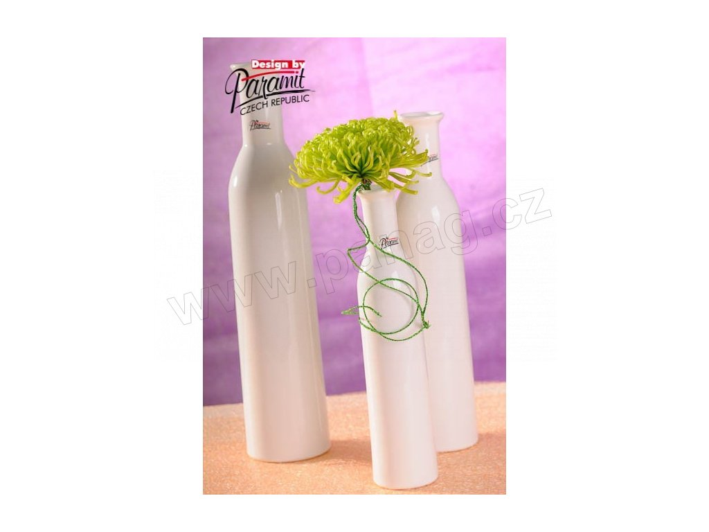 Karin váza bílá 25 cm  - Paramit - 12037-25W