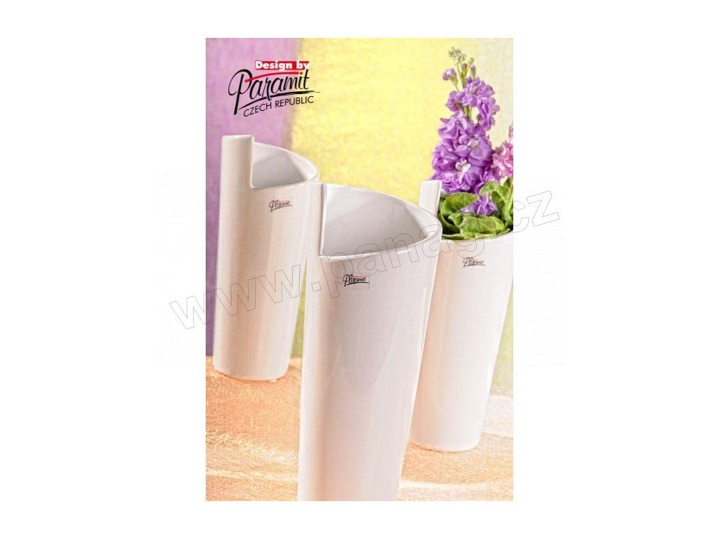 Médea váza bílá 25 cm  - Paramit - 11025-25W