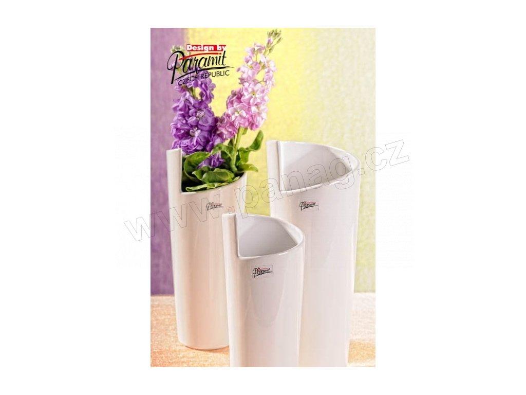 Médea váza bílá 28 cm  - Paramit - 11025-28W