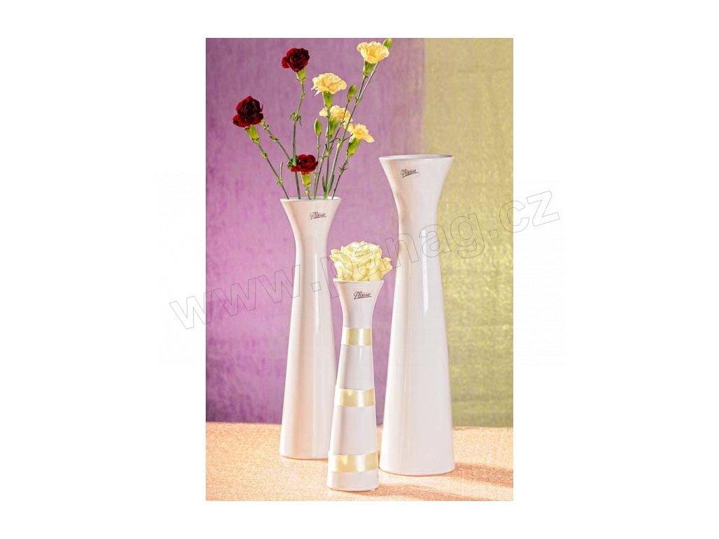 11070 34W Sisi váza bílá 25 cm