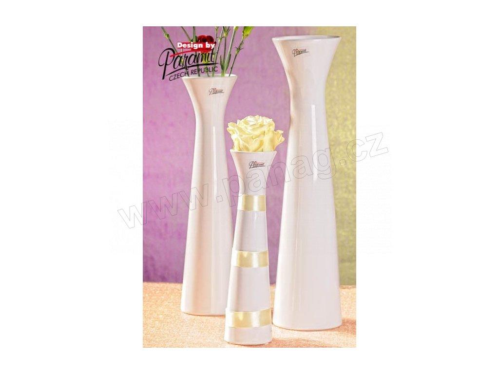 Sisi váza bílá 25 cm  - Paramit - 11070-25W