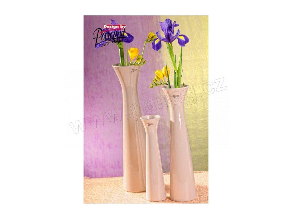 Sisi váza béžová 34 cm  - Paramit - 11070-34C