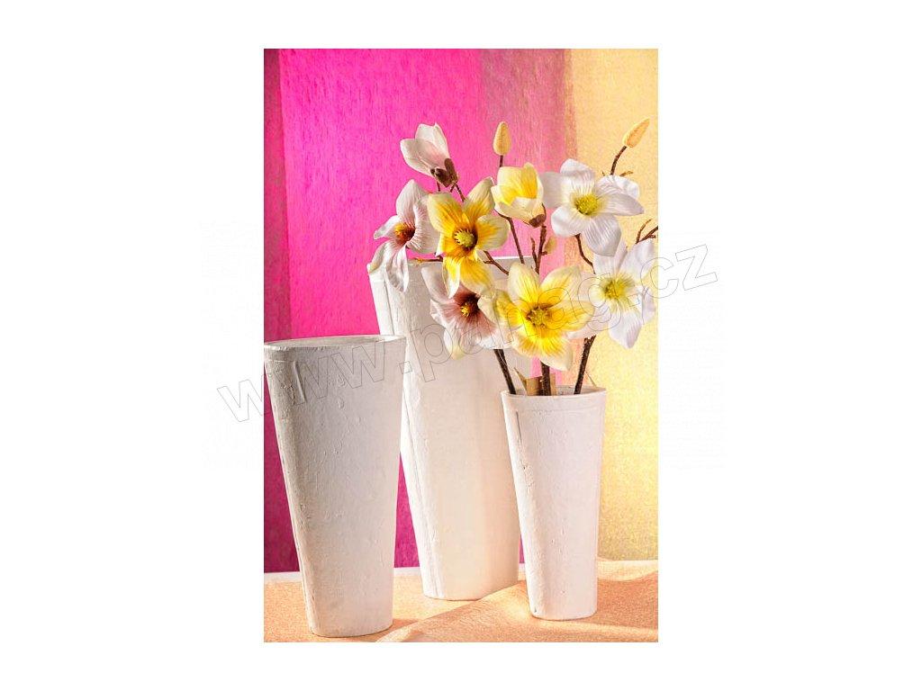 Terakota váza bílá 41 cm
