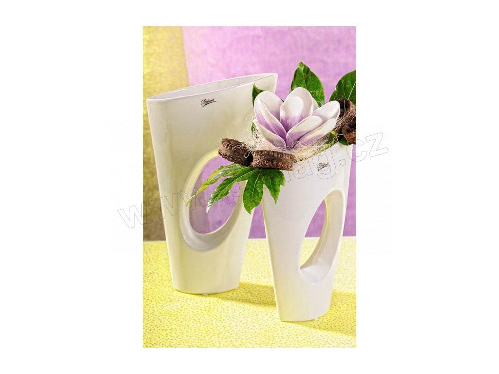 11068 28W Yoko váza bílá 28 cm