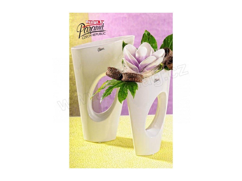 Yoko váza bílá 28 cm  - Paramit - 11068-28W