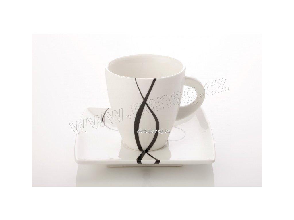 Porcelánový šálek s podšálek cappuccino 230 ml - Breeze  - Maxwell&Williams