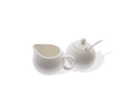 Cukřenka a nádoba na smetanu - WHITE BASICS - Maxwell&Williams
