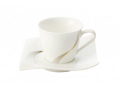 Porcelánový šálek s podšálkem 110 ml - Frequency  - Maxwell&Williams