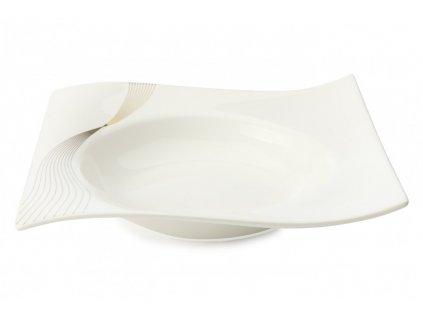 Porcelánový polévkový talíř čtvercový 22 x 22 cm - Frequency RP80122 - Maxwell and Williams