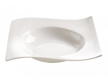 Porcelánový čtvercový talíř na polévku - Motion - Maxwell and Williams