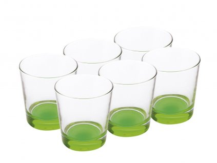 Sklenice zelené 340 ml sada 6 kusů - Maxwell Williams