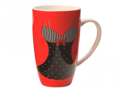 Porcelánový hrnek Mademoiselle Coupe Mug 420 ml Red - Maxwell&Williams